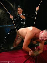 Cock rope bondage