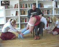 Girlsboardingschool spanking whips